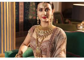 女人,模特,女孩,印度的,珠宝,妇女,口红,项链,耳环,黑发女人,壁纸图片