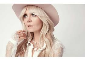 女人,模特,妇女,女孩,白皙的,蓝色,眼睛,帽子,壁纸,(1)