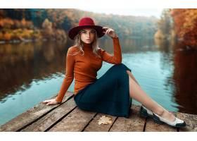 女人,模特,妇女,女孩,白皙的,蓝色,眼睛,帽子,壁纸,