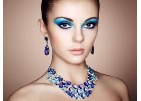 女人,脸,女孩,耳环,妇女,模特,蓝色,眼睛,项链,珠宝,壁纸,图片