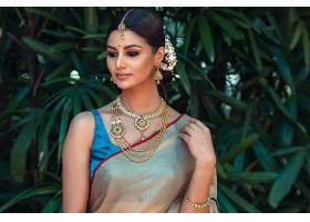 女人,模特,妇女,女孩,印度的,黑色,头发,珠宝,项链,耳环,壁纸,图片