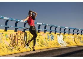 女人,模特,女孩,妇女,太阳镜,高的,高跟鞋,黑色,头发,壁纸,