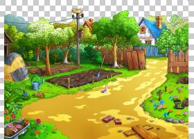 卡通自然背景,草,丛林,游戏,树,生态系统,院子,植物群,娱乐,世界,图片