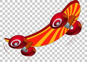 背景橙,机翼,线路,橙色,冲浪,卡通,溜冰朋克,指板,极限运动,滑板,图片