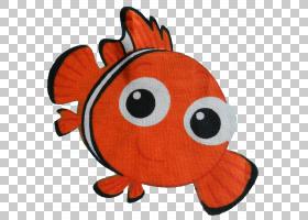 橙花,鱼,头盔,材质,填充玩具,卡通,橙色,红色,花,信用,腰部,每英图片
