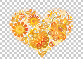 爱的背景心,花瓣,花,动画,博客,颜色,爱,橙色,绘图,黄色,心,图片