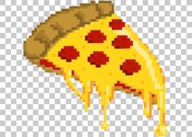 比萨饼像素艺术,长颈鹿,植物,树,花,橙色,叶,黄色,食物,比萨饼,绘图片