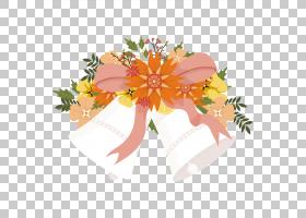 圣诞铃铛卡通,花卉,橙色,植物群,插花,花瓣,桃子,叶,植物,花束,切