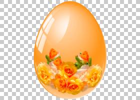 复活节彩蛋背景,桃子,切花,花瓣,花,橙色,Microsoft画图,像素艺术