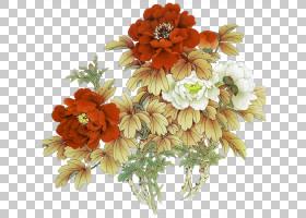 油画花,花卉,花束,橙色,切花,雏菊家庭,非洲菊,插花,花卉设计,黄