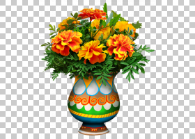 花卉背景,插花,花卉,花瓶,橙色,植物,万寿菊,花盆,切花,花束,花,