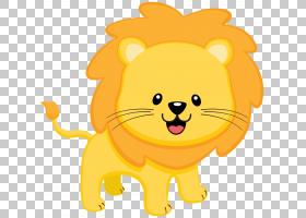 猫狗卡通,小狗,尾巴,胡须,口吻,微笑,花,橙色,鼻子,卡通,黄色,斑图片