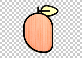 水果和蔬菜图标芒果图标,椭圆形,木材,化妆品,桃子,橙色,芒果图标