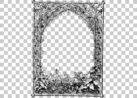 黑白花,黑白,绘图,拱门,线路,结构,线条艺术,树,矩形,面积,花,视