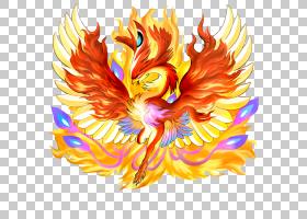 花符号,花,橙色,纹身,不朽,神话,符号,凤凰Ikki,火鸟,凤凰,