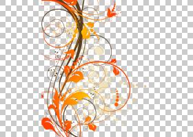 花线艺术,圆,树,线路,分支,叶,植物群,橙色,黄色,计算机,花瓣,Dir