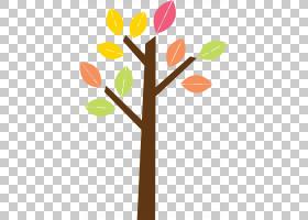 椰叶提取,植物茎,植物,分支,花,橙色,卡通,剪影,贴花,叶,椰子,绘