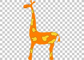 长颈鹿卡通,线路,动物形象,黄色,面积,长颈鹿,柑橘,动物,橙色,长图片