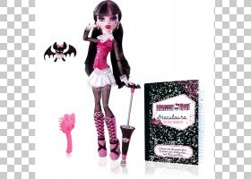 芭比卡通,芭比娃娃,粉红色,怪物高中闹鬼变得鬼鬼祟祟的Twyla,橡