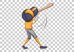 棒球棒实心挥杆击打棒球选手卡通棒球,运动器材,团队运动,运动装