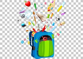 书包卡通,技术,线路,面积,绘图,教育,学生,学校课程表,包,背包,学