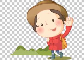 男孩卡通,手指,幸福,卡通,男性,微笑,孩子,鼻子,蹒跚学步的孩子,