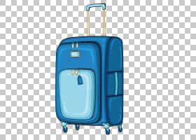 旅行蓝色背景,天蓝色,绿松石,行李袋,电蓝,水,蓝色,旅游,卡通,乘