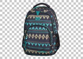 背包卡通,肩包,绿松石,行李袋,露营,皮带,口袋,信使包,升,肩部,手