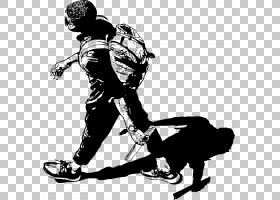 背包卡通,鞋,体育器材,鞋类,播放器,娱乐,黑白,背包,背包旅行,剪