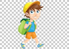 学校背包,男性,男孩,吉祥物,卡通,线路,手,材质,播放,蹒跚学步的