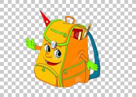 书包卡通,车辆,肩包,线路,面积,绿色,黄色,绘画,教育,公文包,学校