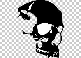 骷髅模板,汽车贴花,线条艺术,黑白相间,头部,模板,绘图,剪影,头骨