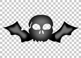 骷髅符号,黑白相间,黑色,符号,骨头,吸血蝙蝠,动画片,机翼,蝙蝠翼