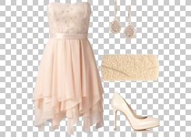 婚礼时尚,新娘服装,新娘礼服,鞋,米色,桃子,皮带,伴娘,鸡尾酒礼服