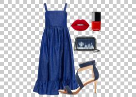 牛仔裤卡通,钴蓝,日间连衣裙,电蓝,蓝色,时尚,牛仔布,鸡尾酒会礼