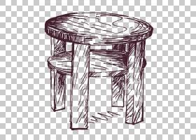 画卡通,矩形,角度,黑白,线路,结束表,户外餐桌,绘画,沙发,木材,绘