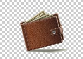 金钱卡通,棕色,硬币钱包,钱夹,手提包,皮革,钱包,