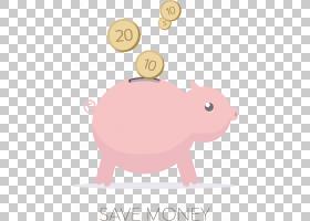小猪银行,线路,口吻,猪,文本,粉红色,银币,硬币钱包,银行,黄金,金