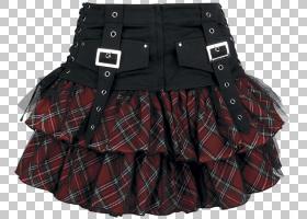 红色背景,黑色,格子,图图,红色,皮带,启动,服装辅料,迷你裙,口袋,