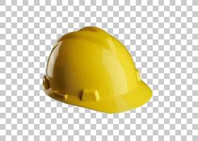 帽子卡通,帽子,个人防护装备,头盔,安全帽,黄色,安全带,建筑工程,