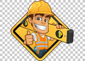 帽子卡通,拇指,帽子,线路,手指,头盔,黄色,施工,建筑工人,