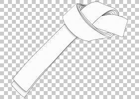 跆拳道卡通,黑白,线路,白色,体育器材,手,硬件附件,材质,领带,颈