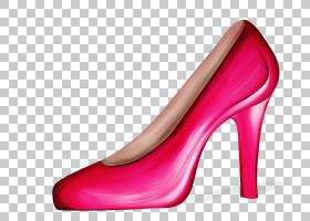 鞋子卡通,新娘鞋,洋红色,粉红色,红色,碱性泵,鞋类,高跟鞋,专利皮
