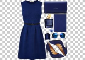 鸡尾酒卡通,鸡尾酒会礼服,钴蓝,日间连衣裙,袖子,电蓝,肩部,时尚,