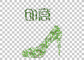 绿草背景,鞋子,线路,文本,鞋类,绿色,树,点,面积,草,环境保护,免