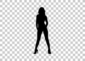 女性卡通,黑白相间,手臂,男性,膝盖,人类,黑色,关节,手,臀部,袖子