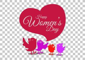 国际妇女节,情人节,洋红色,文本,爱情,心脏,粉红色,幸福,贺卡,广