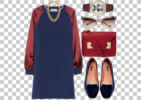 小胡子卡通,电蓝,观看,小胡子,帽子,栗色,领口,袖子,连衣裙,时尚,