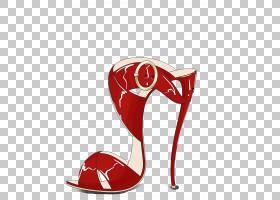 红色背景,户外鞋,高跟鞋,凉鞋,时尚,鞋类,装饰艺术,绘图,红色,鞋