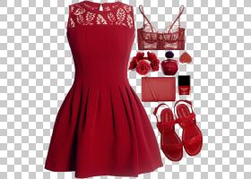 红色背景,日间连衣裙,肩部,芬迪,引脚,鸡尾酒会礼服,着装衣服,时